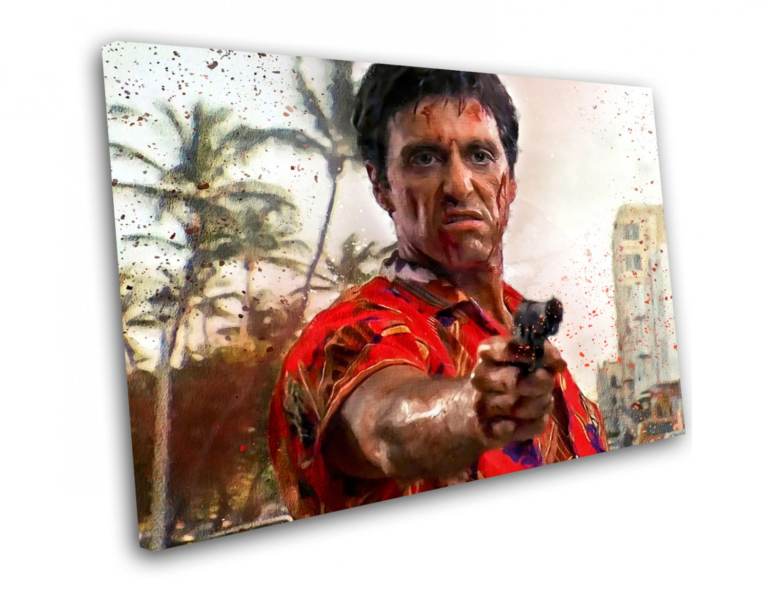Scarface, Al Pacino, Tony Montana  14x20 inches Stretched Canvas
