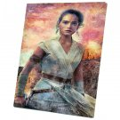 Star Wars The Rise of Skywalker, Rey, Daisy Ridley  12x16 inches Stretched Canvas