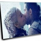 Game of Thrones, Daenerys Targaryen, Emilia Clarke,Jon Snow  8x12 inches Stretched Canvas
