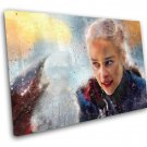 Game of Thrones, Daenerys Targaryen, Emilia Clarke   10x14 inches Stretched Canvas