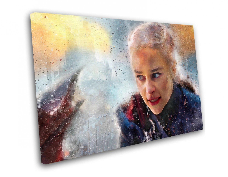 Game of Thrones, Daenerys Targaryen, Emilia Clarke  12x16 inches Stretched Canvas