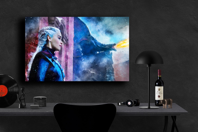 Game of Thrones, Daenerys Targaryen, Emilia Clarke  13x19 inches Canvas Print