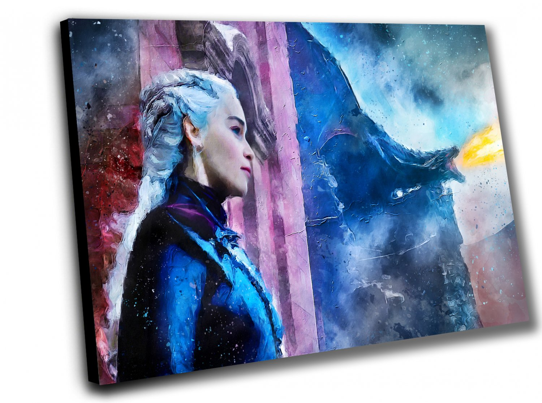 Game of Thrones, Daenerys Targaryen, Emilia Clarke   10x14 inches Stretched Canvas
