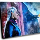 Game of Thrones, Daenerys Targaryen, Emilia Clarke  12x16 inches Stretched Canvas
