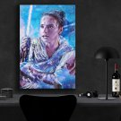 Star Wars The Rise of Skywalker, Rey, Daisy Ridley   13x19 inches Canvas Print