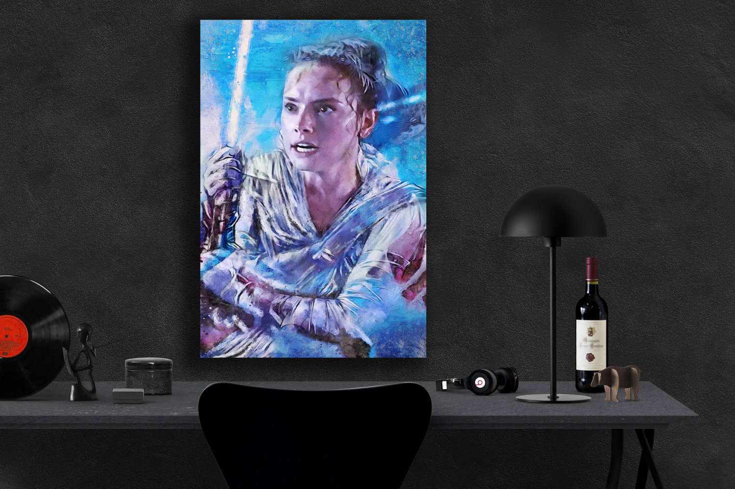 Star Wars The Rise of Skywalker, Rey, Daisy Ridley  24x35 inches Canvas Print