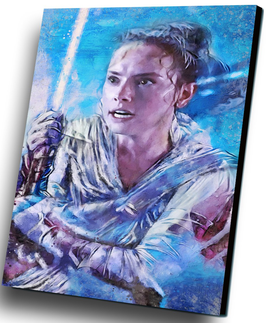 Star Wars The Rise of Skywalker, Rey, Daisy Ridley   8x12 inches Stretched Canvas