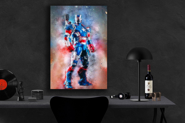 Iron Patriot  13x19 inches Canvas Print