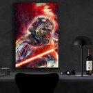 Star Wars The Rise of Skywalker, Rey, Kylo Ren, Daisy Ridley, Adam Driver 13x19 inches Canvas Print