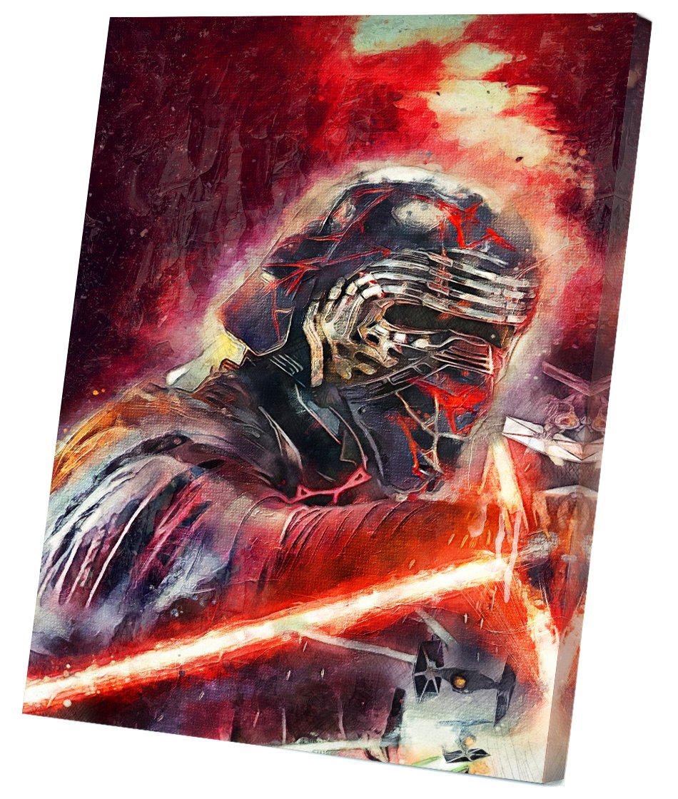 Star Wars The Rise of Skywalker, Rey, Kylo Ren, Daisy Ridley  8x12 inches Stretched Canvas