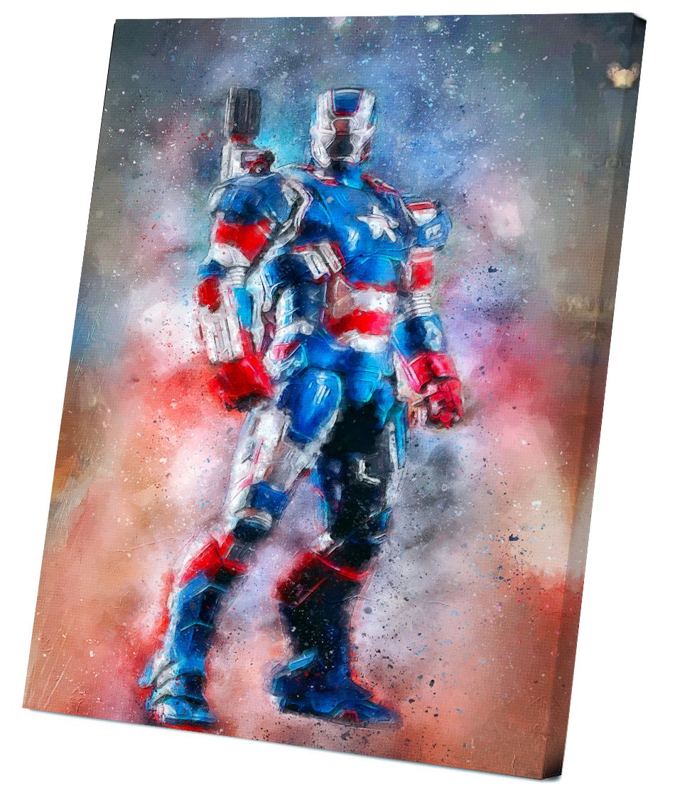 Iron Patriot  8x12 inches Stretched Canvas
