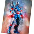 Iron Patriot  10x14 inches Stretched Canvas