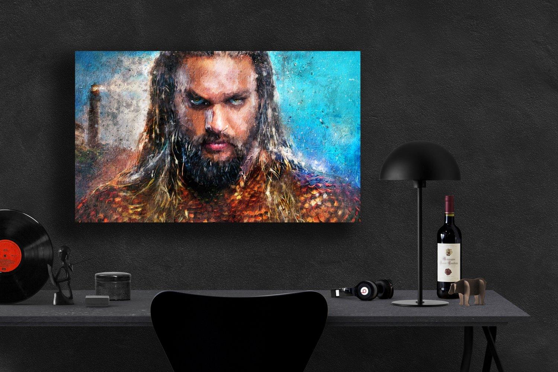 Aquaman, Jason Momoa, Movie  24x35 inches Canvas Print