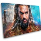 Aquaman, Jason Momoa, Movie  14x20 inches Stretched Canvas