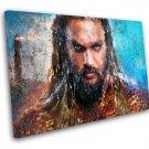 Aquaman, Jason Momoa, Movie  14x20 inches Stretched Canvas
