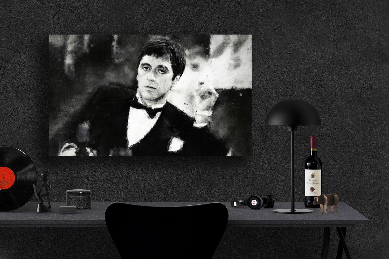 Scarface, Al Pacino, Tony Montana  13x19 inches Canvas Print