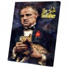 The Godfather, Vito Corleone, Marlon Brando  12x16 inches Stretched Canvas