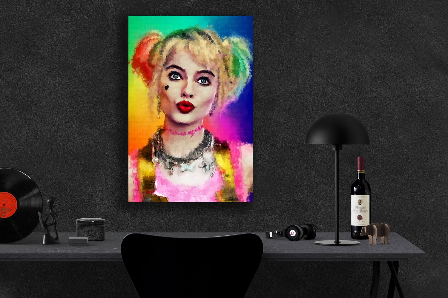 Birds of Prey, Harley Quinn, Margot Robbie  13x19 inches Canvas Print
