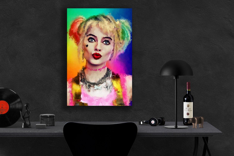 Birds of Prey, Harley Quinn, Margot Robbie  24x35 inches Canvas Print