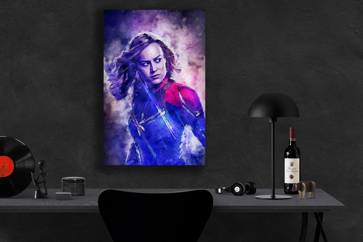 Captain Marvel  18x28 inches Poster Print