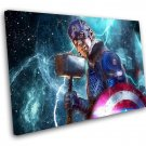 Captain America, Avengers Endgame 8x12 inches Stretched Canvas