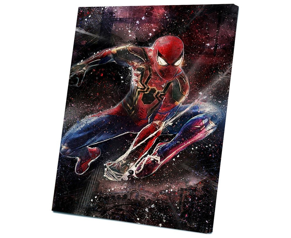 Spider-Man Far from Home, Spiderman, Peter Parker   12x16 inches Stretched Canvas
