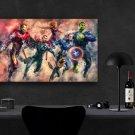 Avengers Endgame, Iron Man, Captain America, Thor, Captain Marvel,  Hulk  13x19 inches Canvas Print