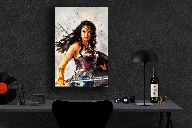 Wonder Woman  13x19 inches Canvas Print