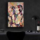 Tupac Shakur, Aaliyah  18x28 inches Canvas Print