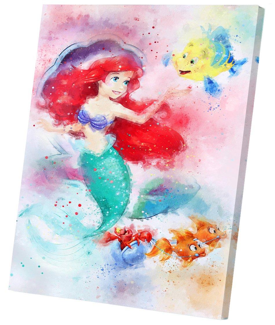 Ariel  Disney Princess  12x16 inches Stretched Canvas