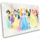 Disney Princesses  8x12 inches Stretched Canvas
