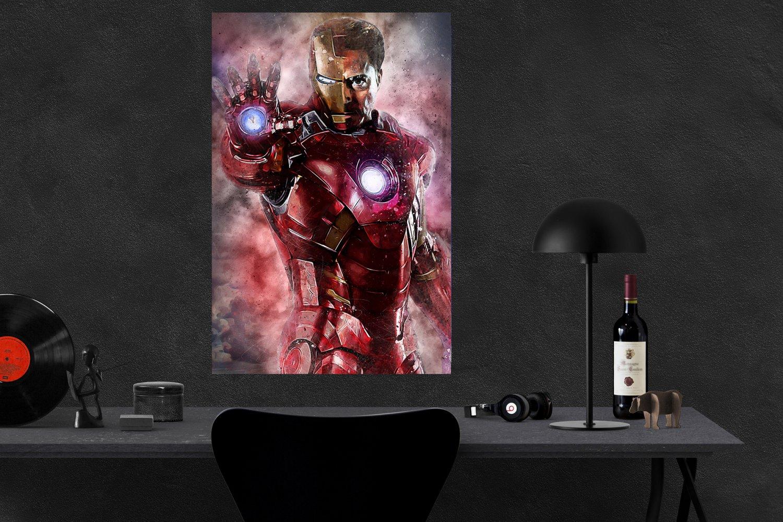Avengers Endgame, Iron Man, Tony Stark, Robert Downey Jr,  18x28 inches Canvas Print