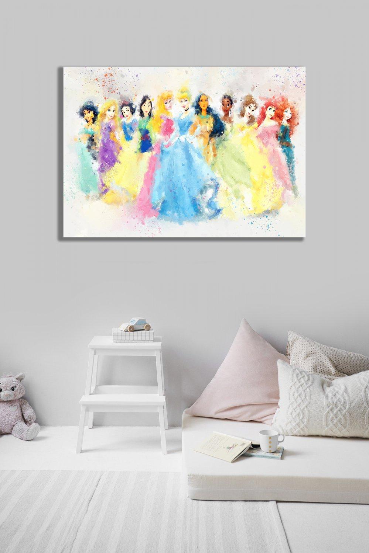 Disney Princesses  24x35 inches Canvas Print