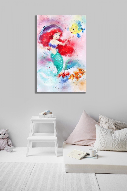 Ariel  Disney Princess 18x28 inches Canvas Print
