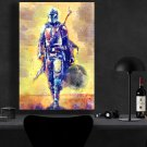 The Mandalorian, Star Wars, Pedro Pascal   13x19 inches Canvas Print