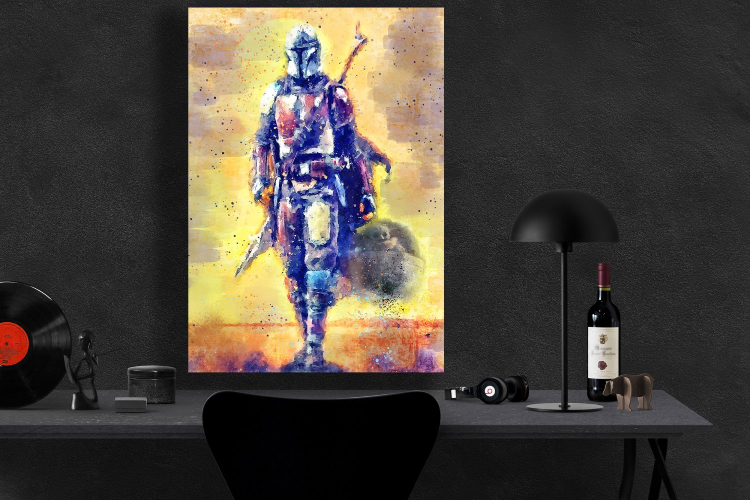 The Mandalorian, Star Wars, Pedro Pascal  24x35 inches Canvas Print