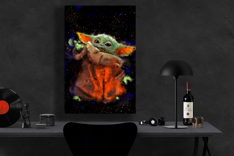 The Mandalorian, Star Wars, Baby Yoda  13x19 inches Poster Print