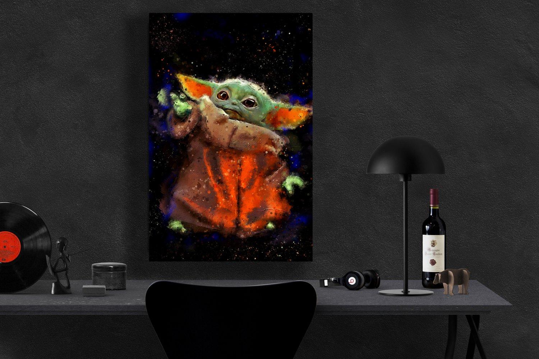 The Mandalorian, Star Wars, Baby Yoda   8x12 inches Canvas Print