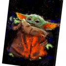 The Mandalorian, Star Wars, Baby Yoda  10x14 inches Stretched Canvas