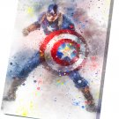 Captain America  10x14 inches Stretched Canvas