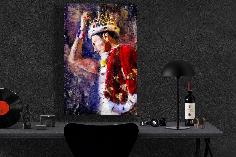 Freddie Mercury  13x19 inches Canvas Print