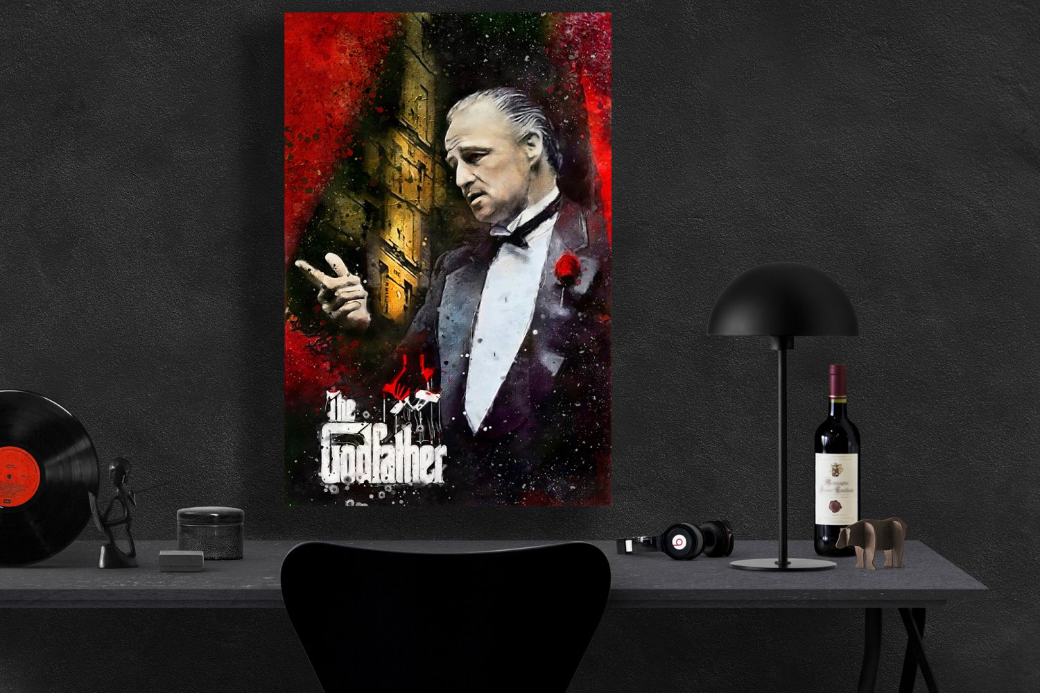 The Godfather, Vito Corleone, Marlon Brando   13x19 inches Canvas Print