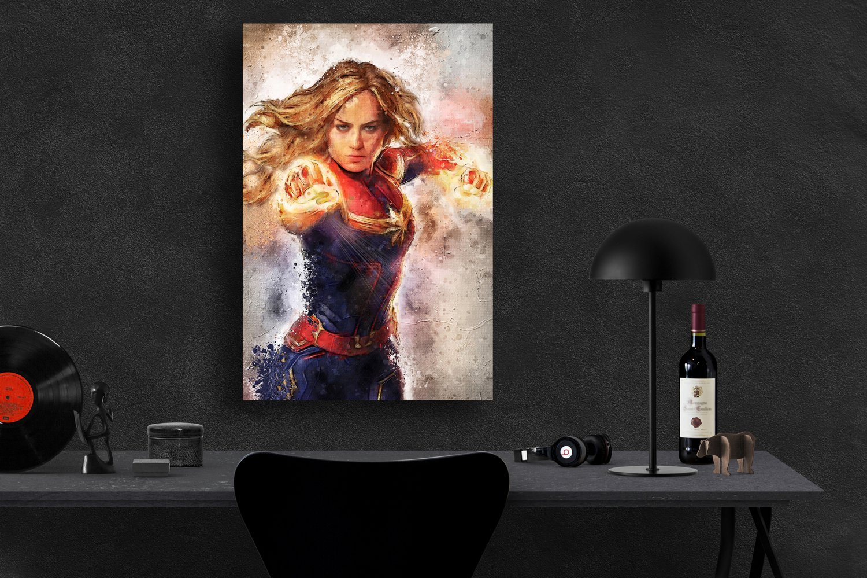 Captain Marvel  24x35 inches Canvas Print