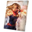 Captain Marvel  12x16 inches Stretched Canvas