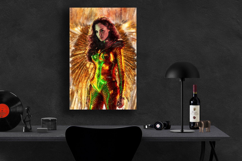 Wonder Woman, Diana Prince, Gal Gadot   13x19 inches Canvas Print