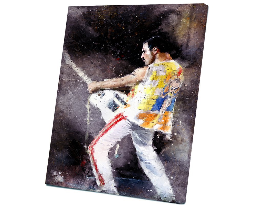 Freddie Mercury  8x12 inches Stretched Canvas