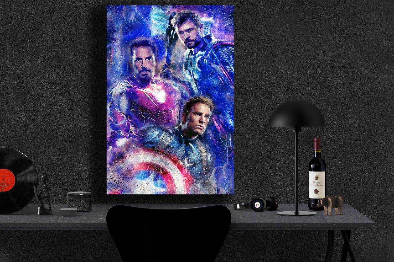 Avengers Endgame, Iron Man, Captain America, Thor  24x35 inches Canvas Print
