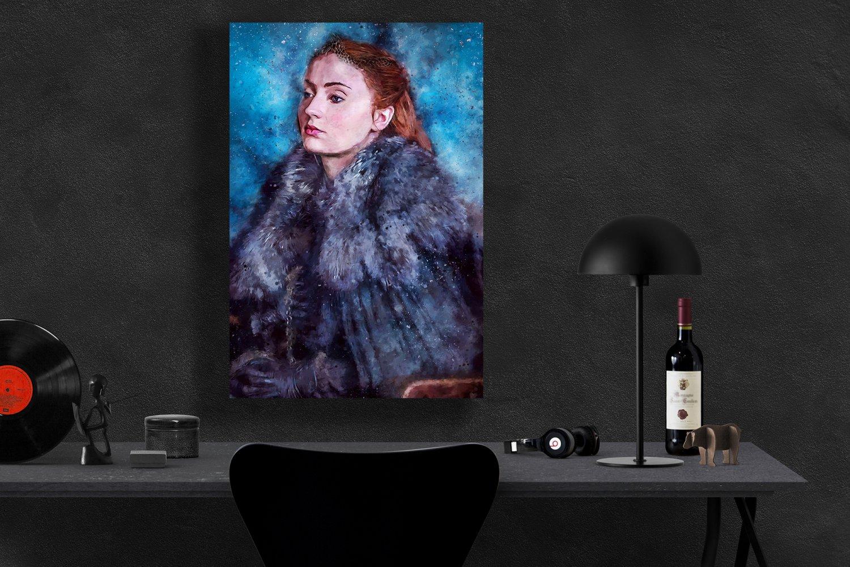 Game of Thrones , Sansa Stark,Sophie Turner  18x28 inches Canvas Print