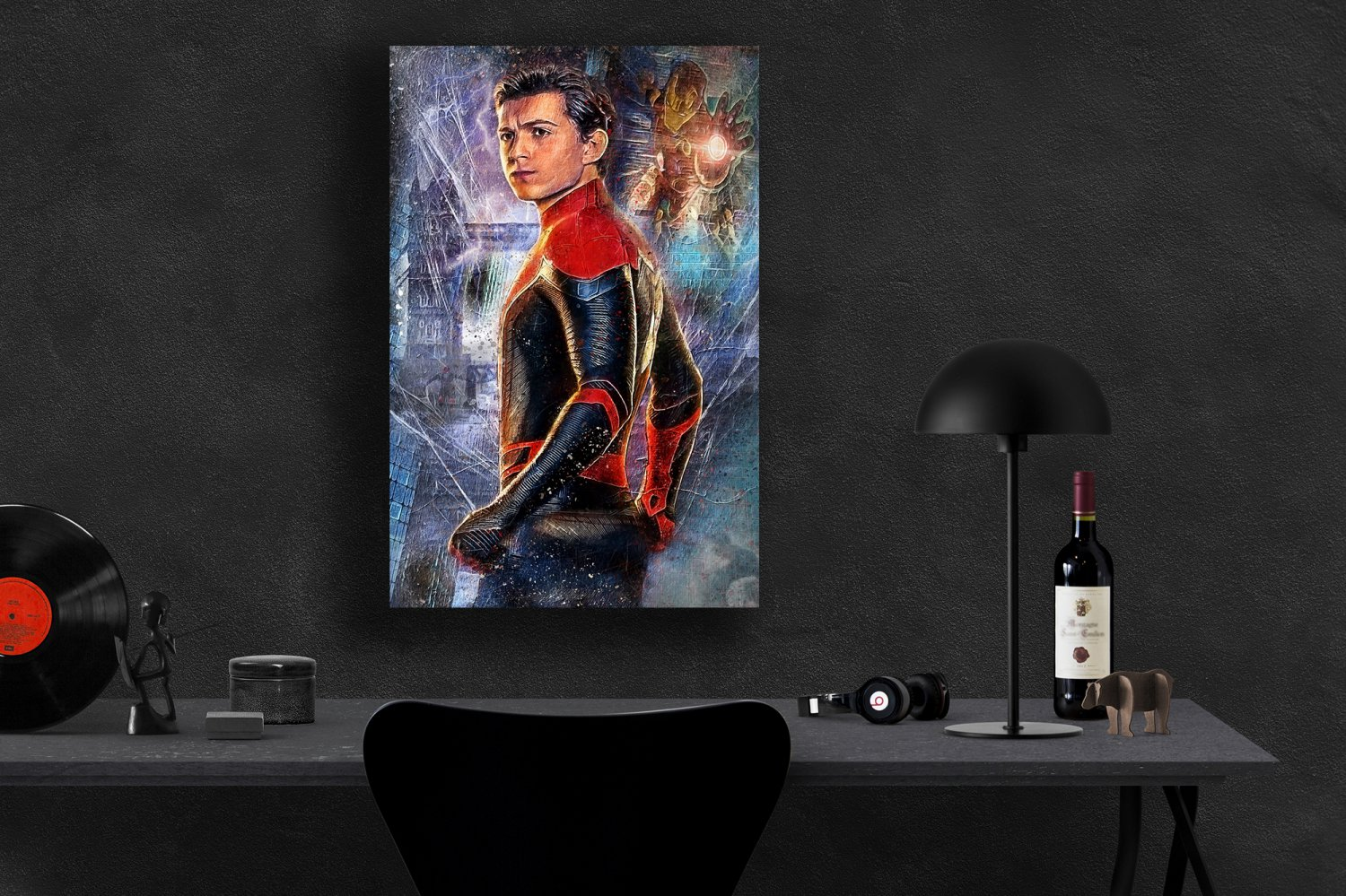 Spider-Man Far from Home, Spiderman, Peter Parker  13x19 inches Canvas Print