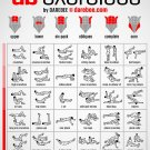 No-equipment Ab Exercises Workout Chart 24x35 inches Canvas Print